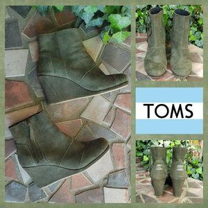 TOMS  Desert Wedge High Booties
